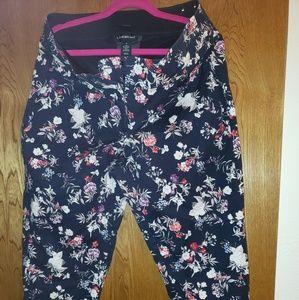 Lane bryant crop ruffle pants